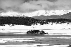 Paesaggio in bianco e nero bulgaro Fotografia Stock Libera da Diritti