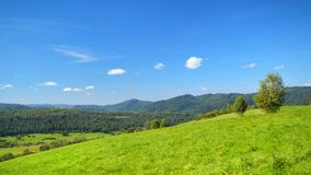 Paesaggio Bieszczady delle montagne Fotografia Stock