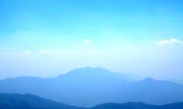 Paesaggio blu immagini stock