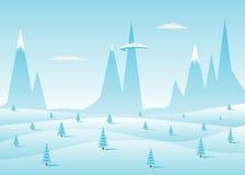 Paesaggio blu Fotografia Stock