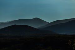 Paesaggio blu fotografie stock
