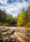 paesaggio blu della cresta della montagna del fogliame di autunno Immagine Stock Libera da Diritti