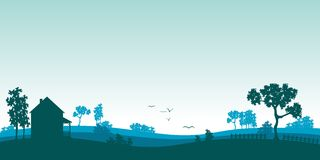 Paesaggio blu di estate Fotografia Stock Libera da Diritti