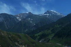 Paesaggio blu fresco del Kashmir Immagine Stock