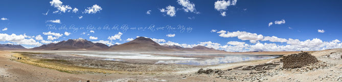 Paesaggio in Bolivia Immagini Stock
