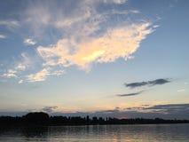 Paesaggio calmo nel lago di Constance fotografia stock libera da diritti