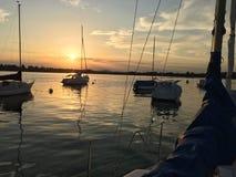 Paesaggio calmo nel lago di Constance Fotografie Stock