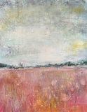 Paesaggio, campo rosso Fotografie Stock Libere da Diritti