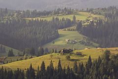 Paesaggio carpatico Fotografie Stock Libere da Diritti