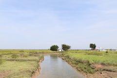 Paesaggio Charente-marittimo con il canale Fotografia Stock Libera da Diritti