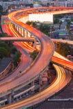 Paesaggio che sviluppa distretto aziendale moderno di Bangkok In forma di s Fotografia Stock