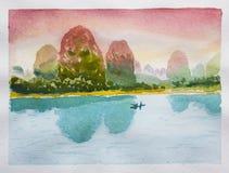 Paesaggio cinese Fotografia Stock Libera da Diritti