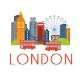 Paesaggio classico di Londra Toristic Fotografia Stock Libera da Diritti