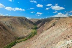 Paesaggio collinoso del deserto Immagini Stock Libere da Diritti