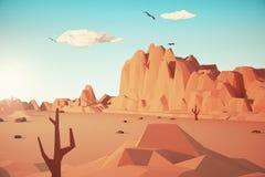 Paesaggio colorato del deserto illustrazione vettoriale
