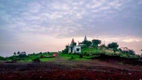 Paesaggio Colourful con il tempio Fotografia Stock Libera da Diritti