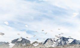 Paesaggio colourful delle montagne di estate Fotografia Stock Libera da Diritti