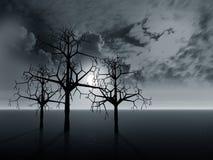Paesaggio con gli alberi Immagine Stock