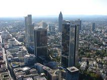 Paesaggio con i grattacieli di Francoforte. Fotografia Stock Libera da Diritti
