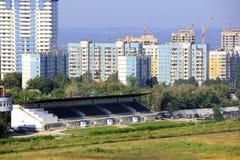 Paesaggio con il cantiere Immagine Stock