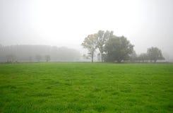 Paesaggio con il cielo nebbioso bianco Fotografia Stock Libera da Diritti