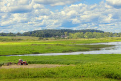 Paesaggio con il fiume Immagini Stock Libere da Diritti