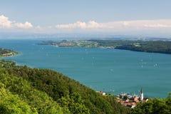 Paesaggio con il lago Constance Fotografia Stock
