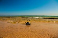 Paesaggio con il mare blu Immagini Stock Libere da Diritti