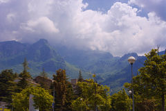 Paesaggio con il Mountain View Immagine Stock Libera da Diritti