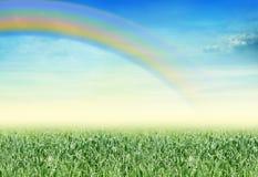 Paesaggio con il Rainbow fotografie stock libere da diritti