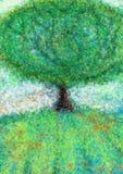 Paesaggio con l'albero Immagini Stock