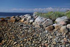 Paesaggio con l'immagine della spiaggia del mar Bianco Fotografia Stock Libera da Diritti