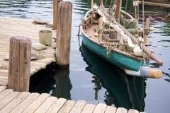 Paesaggio con la barca Immagini Stock Libere da Diritti