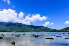 Paesaggio con la barca Fotografia Stock Libera da Diritti