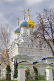 Paesaggio con la bella cattedrale ortodossa Immagine Stock