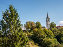 Paesaggio con la chiesa Fotografia Stock Libera da Diritti