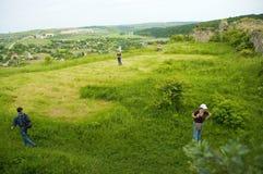 Paesaggio con la gente Fotografia Stock Libera da Diritti