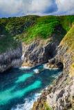 paesaggio con la riva dell'oceano in Asturie, Spagna Immagine Stock Libera da Diritti