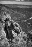 Paesaggio con la roccia Fotografie Stock Libere da Diritti
