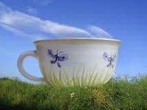Paesaggio con la tazza Immagini Stock