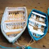 Paesaggio con le barche Immagini Stock Libere da Diritti
