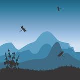 Paesaggio con le montagne royalty illustrazione gratis