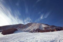 Paesaggio con le montagne Giorno di inverno con cielo blu Zabljak, lunedì Immagine Stock