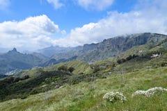 Paesaggio con le montagne in Gran Canaria Fotografie Stock