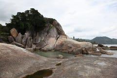 Paesaggio con le rocce Immagine Stock