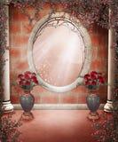 Paesaggio con le rose 4 Immagine Stock