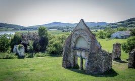 Paesaggio con le rovine Fotografia Stock