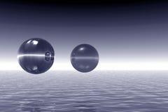 Paesaggio con le sfere illustrazione vettoriale
