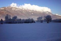 Paesaggio con neve Immagine Stock Libera da Diritti