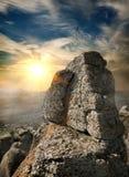 Paesaggio con roccia Immagine Stock